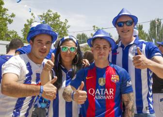 Barça and Alavés start the party at the Copa 'Fan Zones'