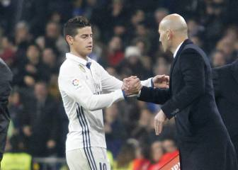 Zidane dejó entrever que James no continuará en Madrid