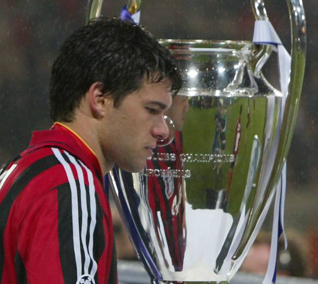 Ballack tras perder la final contra el Real Madrid.