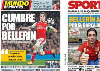 Arsenal's Bellerín gets Barcelona media focus