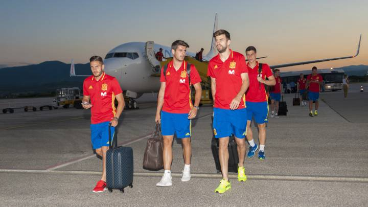 Diego Costa y Morata, en el escaparate en Macedonia
