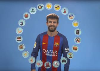 Messi, Suárez and Neymar as emojis... Piqué gives his verdict