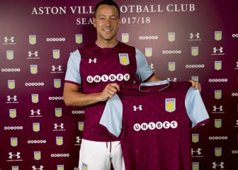 Former Chelsea captain John Terry signs for Aston Villa