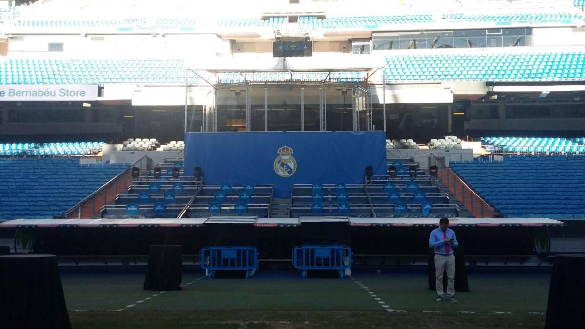 El palco del bernab u listo para las presentaciones del - Palco santiago bernabeu ...
