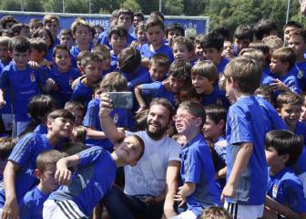 Juan Mata visits summer camp at boyhood-club Real Oviedo