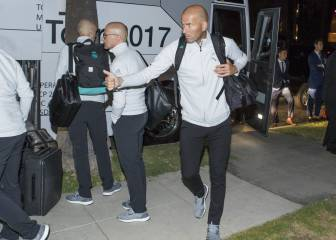 Real Madrid touch down in LA