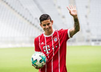 James Rodríguez's first day at Bayern Munich - in pictures