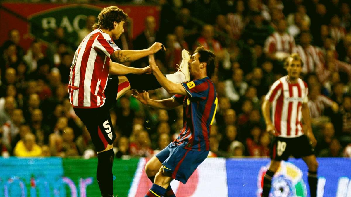 """Amorebieta: """"En 2009, Messi resbaló y chocó con mi pie"""" - AS.com"""