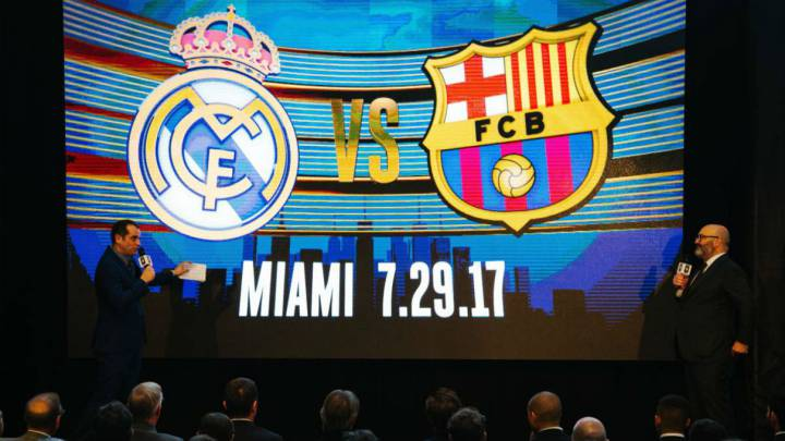 Real Madrid y Barcelona jugarán en Miami el 29 de julio de 2017 con motivo de la International Champions Cup.