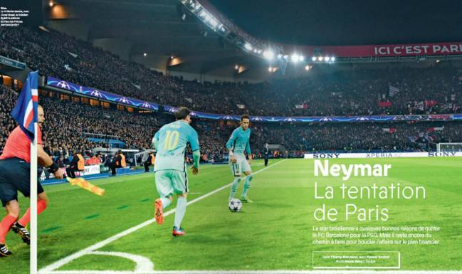 Reportaje sobre Neymar en la revista France Football.