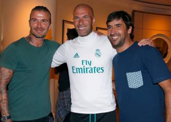 Beckham visits Real Madrid