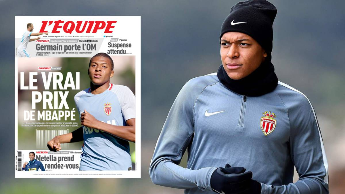 Monaco put a price on Real Madrid and City target Mbappé