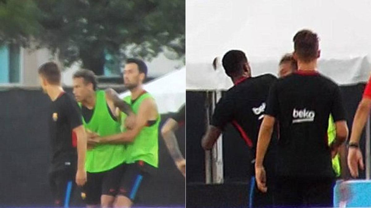 Neymar storms out of Barcelona training after bust-up with Semedo