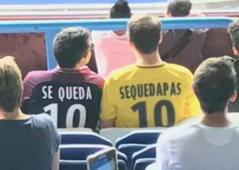 PSG fans wear shirts taunting Piqué over