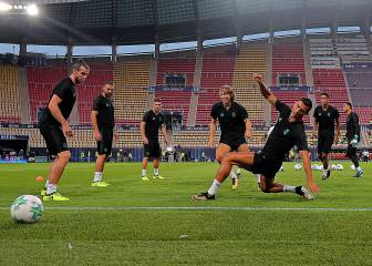Real Madrid training in Skopje ahead of European Super Cup