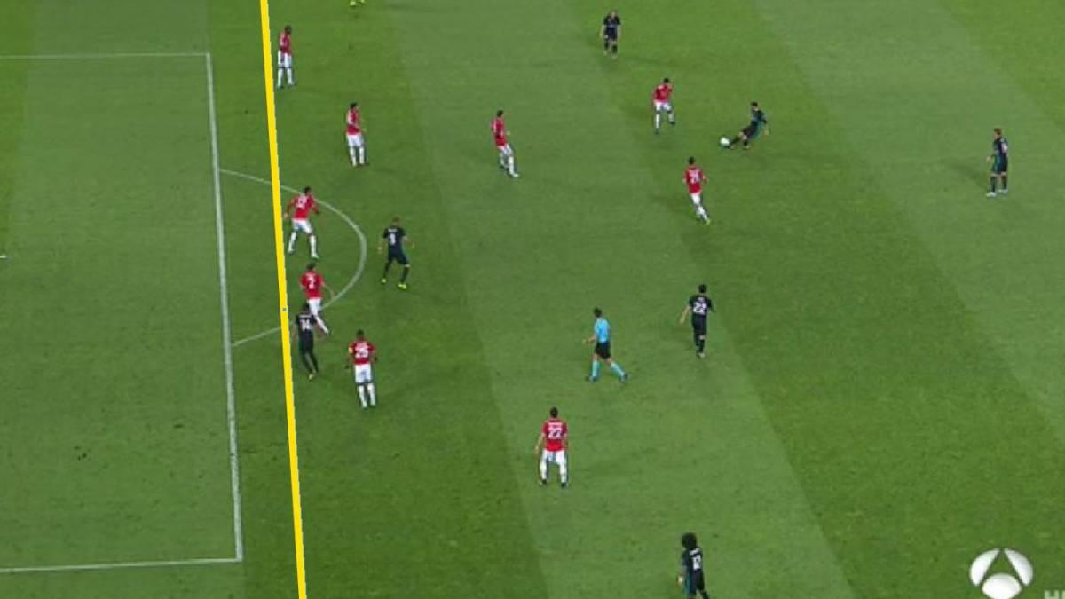 Real madrid el united reclam fuera de juego en el gol for En fuera de juego online