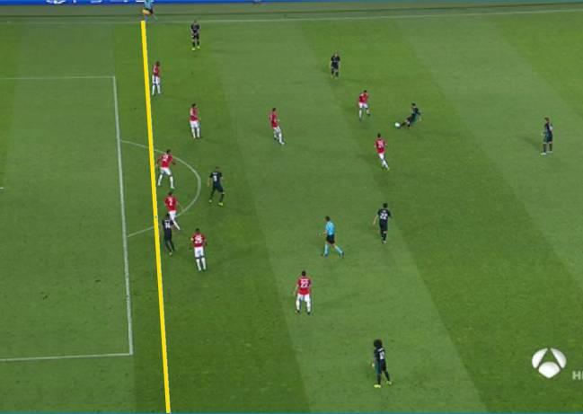 real madrid mou se quej al rbitro del primer gol era