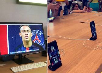 PSG mischief maker changes all screens in Apple store
