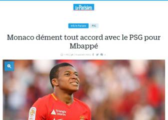 Le Parisien: Monaco deny deal done with PSG for Mbappé