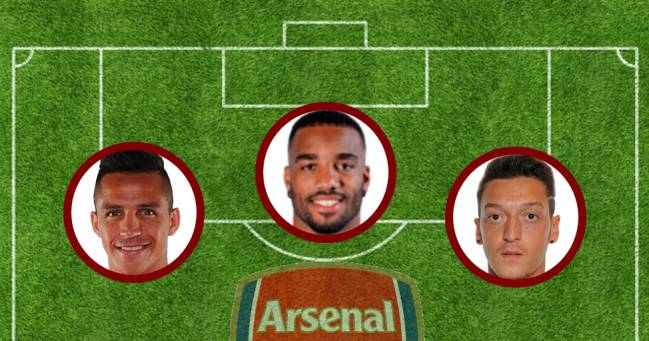 Alexis, Lacazette y Özil.