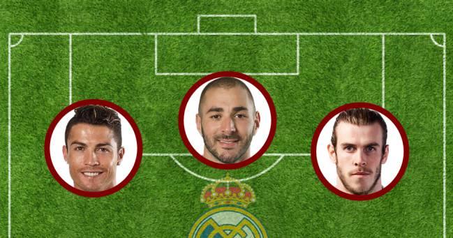 La bbC: Cristiano Ronaldo, Benzema y Bale.