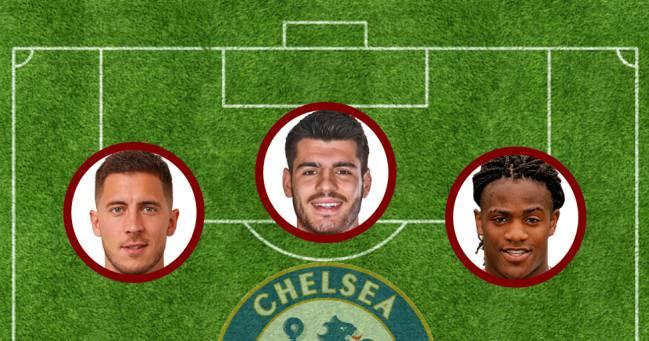 Hazard, Morata y Batshuayi.