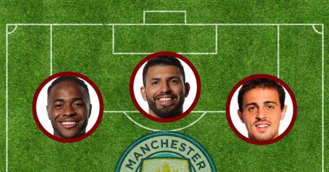 Sterling, Agüero y Bernardo Silva.