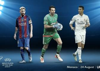 Cristiano, Messi and Buffon up for UEFA Player of the Year award