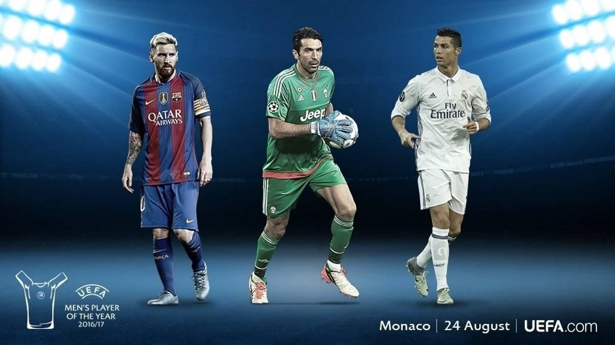 Los tres finalistas para la UEFA.