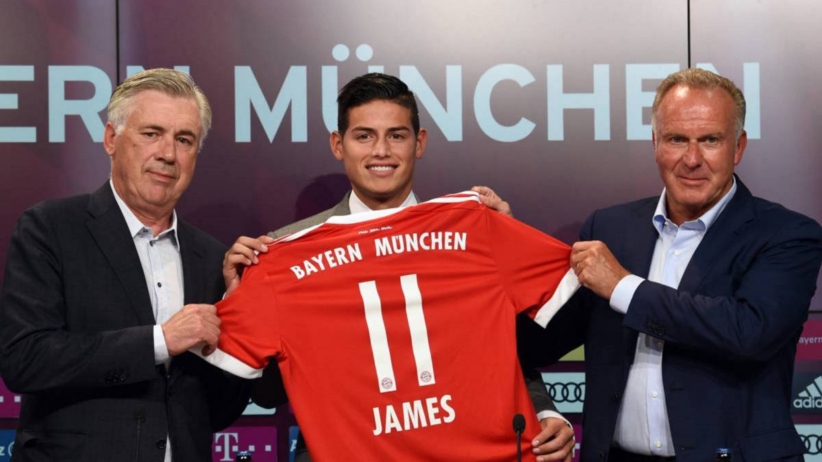 Football Leaks revela las cifras del traspaso de James a Bayern
