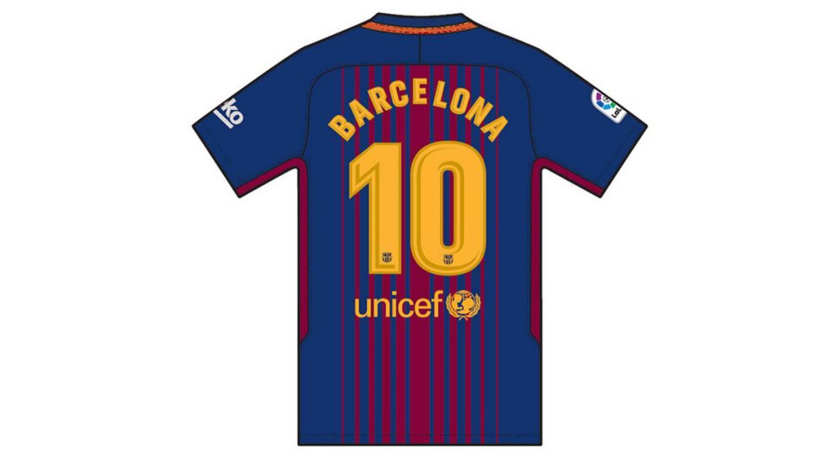 Imagen de la camiseta que lucirán en el Barcelona - Betis los jugadores del club azulgrana.
