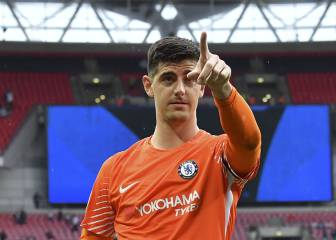 Courtois ridiculiza a los Spurs por usar tambores falsos en Wembley