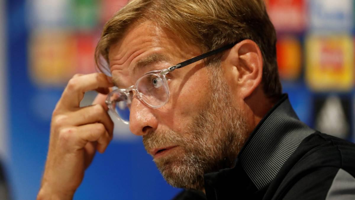 El entrenador alemán del Liverpool, Jürgen Klopp, en rueda de prensa.