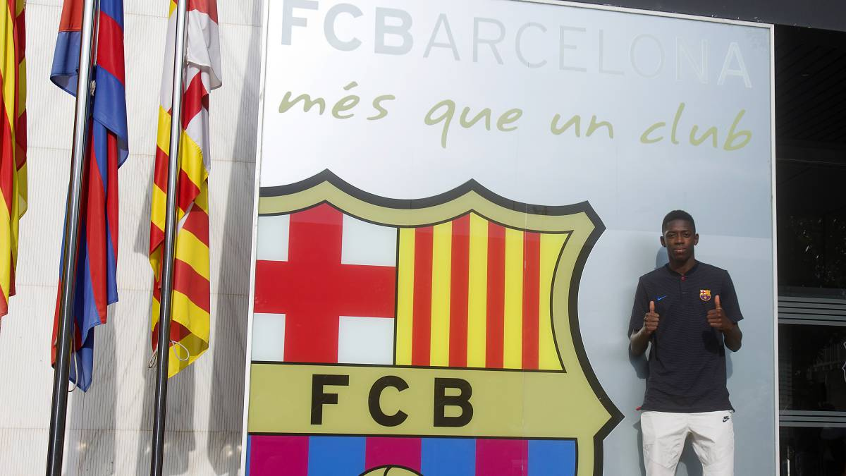 Ousmane Dembélé arrives in Barcelona ahead of unveiling