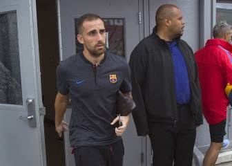 Alcácer won't play; Sergi Roberto recovered