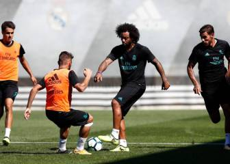 Theo prepares for Real Sociedad with Marcelo