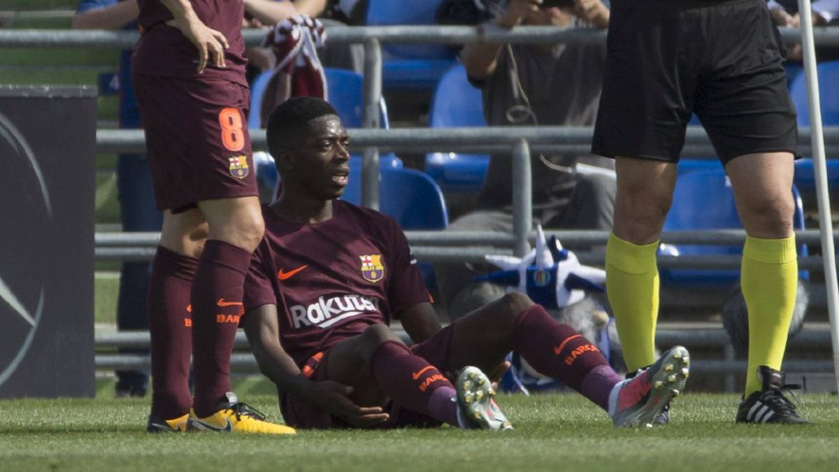 Dembélé limps off in Getafe with suspected hamstring injury