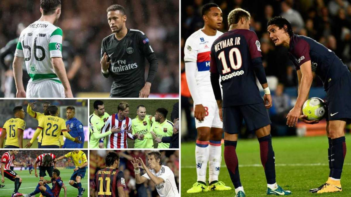 A history of Neymar's battles on the field