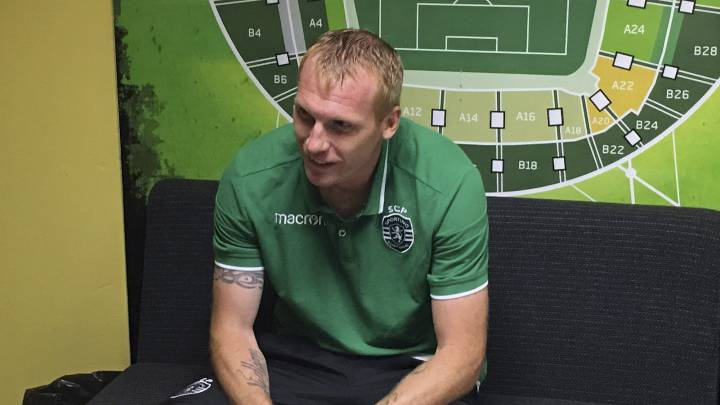 El defensa francés del Sporting de Portugal, Jeremy Mathieu.