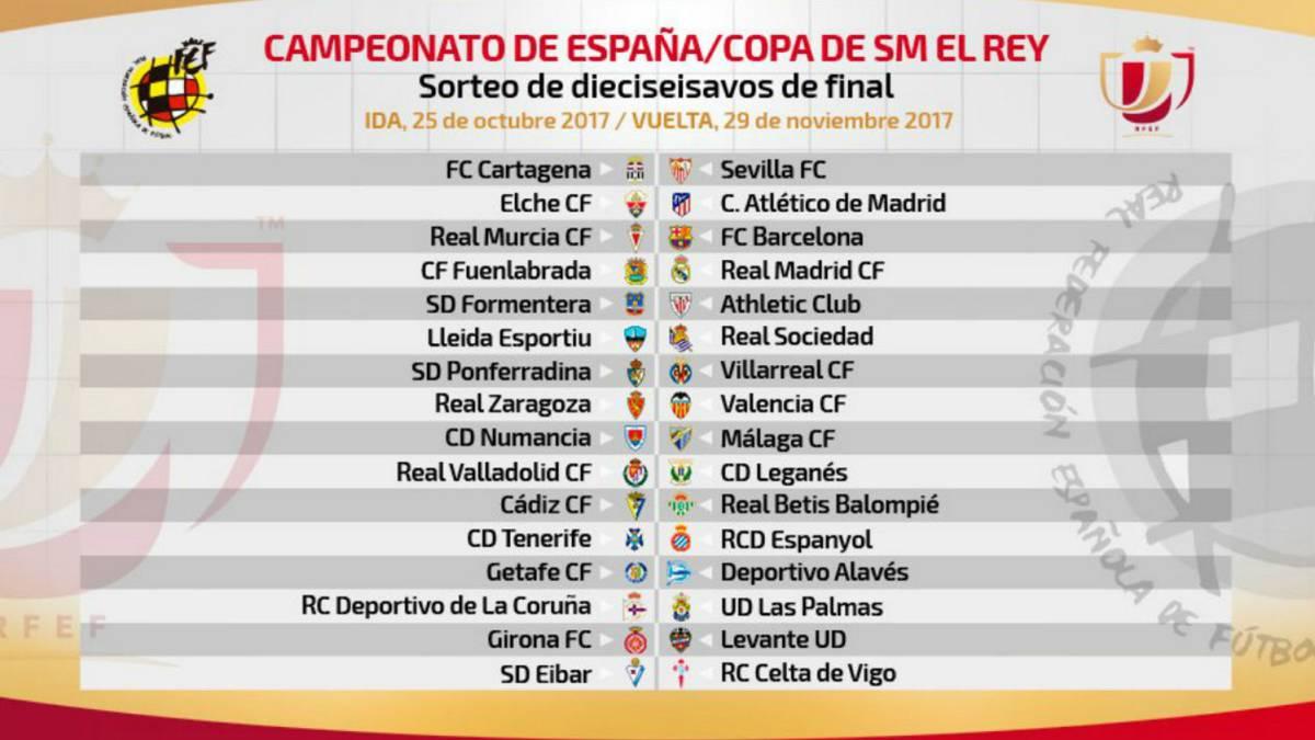 Copa: Fuenlabrada-Real Madrid, Murcia-Barça y Elche-Atlético