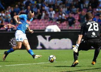 Hamsik closes in on Maradona record as Napoli stay perfect