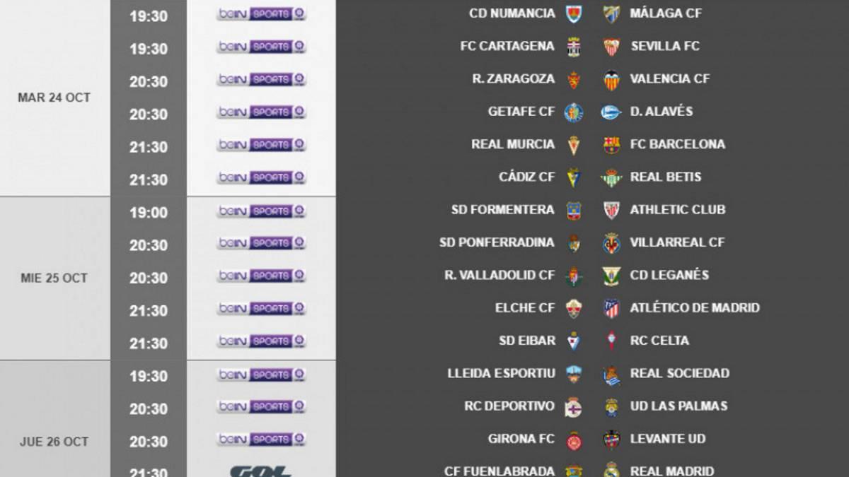 El Fuenlabrada-Madrid de Copa se jugará el 26-O a las 21:30