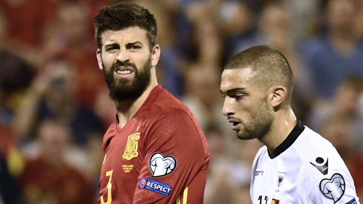 Piqué: whistles drown out applause at Spain v Albania