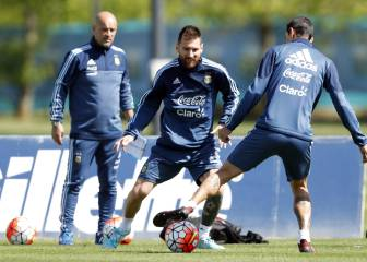 Messi, all smiles as Argentina are put through their paces
