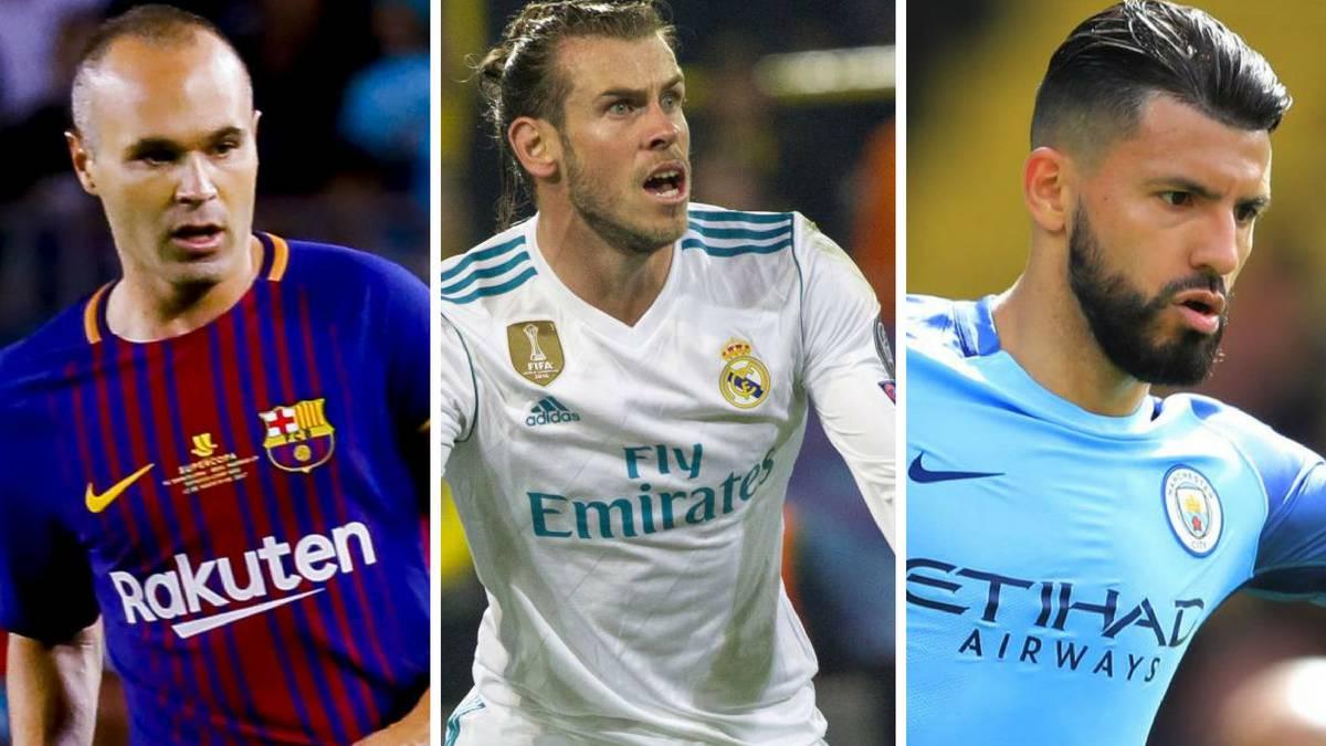 Los grandes ausentes de los nominados al Balón de Oro 2917: Iniesta, Bale, Agüero...