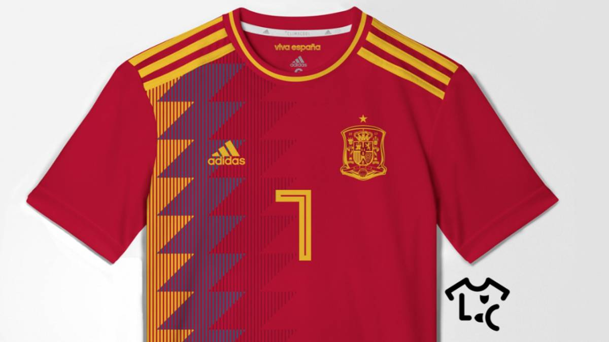 d3b2b6906109a Se filtra la posible camiseta de España para el Mundial 2018. Posible  camiseta de España.