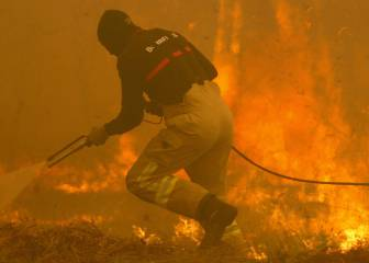 Coruxo give refuge to residents fleeing forest fires in Galicia