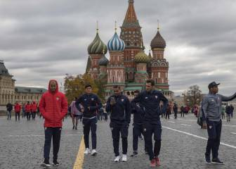 Sevilla take in Moscow's Red Square ahead of Spartak clash