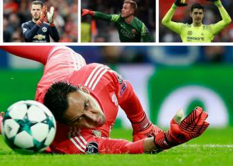 Keylor Navas leads the way in saves among Europe's big guns