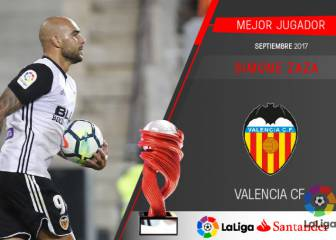 Valencia's Simone Zaza scoops Liga player of the month award